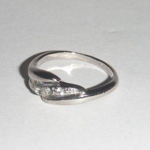 Cubic Zirconia 3 Stone Ring